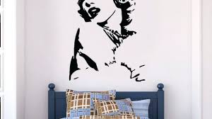 popular silhouette wall art small home decor inspiration trendy diy bird marilyn monroe design full size cameo metal