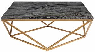 jasmine coffee table in black wood vein marble and brushed gold stainless steel base