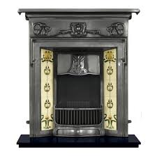 the morris is a reion of a complete cast iron fireplace in the art