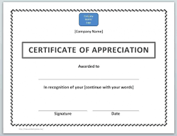 Certificate Of Appreciation Free Download Free Download Sample Certificate Appreciation Template Word Gallery