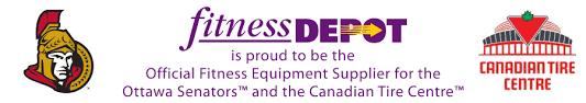 fitness depot official equipment supplier ottawa senators canadian tire centre