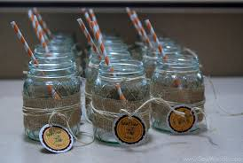 Mason Jar Burlap Glasses 1