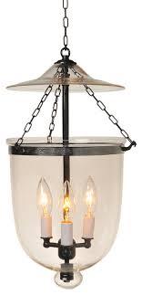 clear hundi glass bell jar lantern antique brass