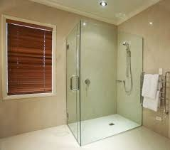 clear and clean glass shower with nanotechnology self cleaning glass coating