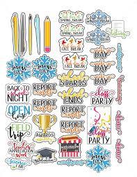 Planner Clipart School Report Frames Illustrations Hd Images