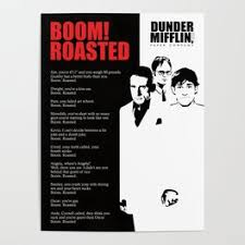 The office posters Michael Scarn The Office Poster Boom Roasted Poster Society6 The Office Posters Society6
