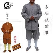 USD 99.21] Monk uniform spring and autumn monk clothes monk clothes short  men's and women's Haiqing Zen dress small long cotton robes in the robe. -  Wholesale from China online shopping |