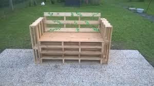 Fabriquer Un Salon De Jardin Avec Des Palettes Banc En Palette De Bois