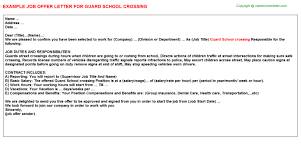 Guard School Crossing Offer Letter