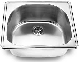 lada ld2225 single bowl d shape topmount ss kitchen sink