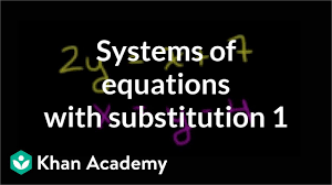 Answered questions all questions unanswered questions. Systems Of Equations With Substitution 2y X 7 X Y 4 Video Khan Academy