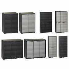 vidaxl garden storage cabinet with 1 2