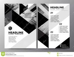 Flyer Black And White Abstract Black White Triangle Background For Minimal Poster Brochure
