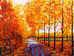 fall leaves painting wallpaper
