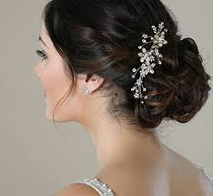 Wedding Hairstyle 62 Awesome SWEETV Wedding Hair Comb Silver Pearl Flower Bridal Clip Rhinestone
