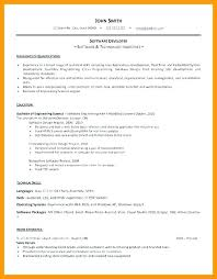 Word Resume Template Software Engineer – Gocollab