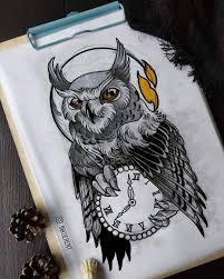 сова эскизы татуировок для девушек 50 фото Tattooassist