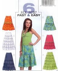 Plus Size Skirt Patterns Amazing PLUS SIZE SKIRT Sewing Pattern Six Easy Tier Ruffle Skirts Sizes