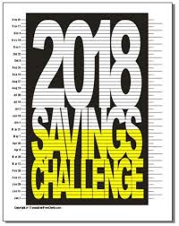 Debt Goal Chart Rock Your 2018 Savings Challenge Goal Debt Free Charts