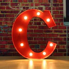Red Light Up Marquee Letters Red Metal Led 12inch Marquee Letter Lights Vintage Circus