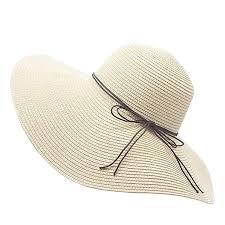 Image Unavailable Amazon.com: Floppy Straw Hat Large Brim Sun Women Summer Beach