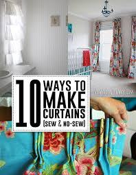 10 great diy curtain tutorials sew or no sew