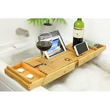 tub tray caddy adorn bamboo bathtub caddy bath tub tray expands up to 43 clawfoot tub caddy tray cart