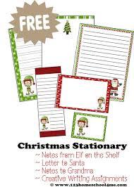 Free Printable Christmas Stationery 123 Homeschool 4 Me