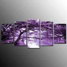 purple tree canvas wall art