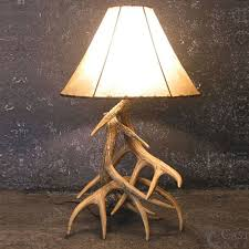 relatively whitetail deer 3 antler table lamp w3l qp86
