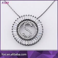 china letter pendant necklace cz stone gold plated jewelry pendant china letter pendant cz pendant