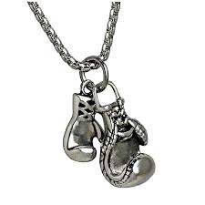 silver cool 2017 boxer s gloves pendant necklace