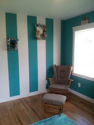 Turquoise Wall Paint Striped Wall Turquoise And White Wall Paint Ideas And Colors