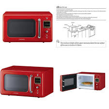 details about daewoo kor 7lrer retro countertop microwave oven 0 7 cu ft 700w pure red