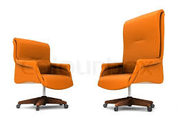 orange office chair isolated on white background stock photo colourbox