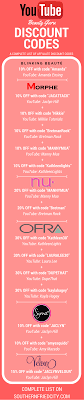 plete list of you and insram beauty guru affiliate codes to save you money on your favorite brands
