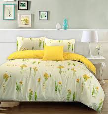 summer breeze 100 cotton duvet quilt cover fl cream yellow reversible bedding set king co uk kitchen home