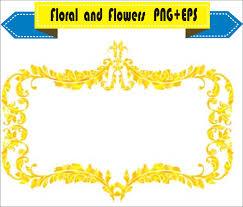 gold frame border png. 1500x1280 Royal Gold Frame Floral Vector Clipart PNG EPS Digital Files Border Png