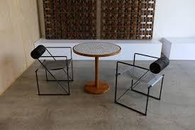 gordon jane martz tile top and solid walnut dinette dining table