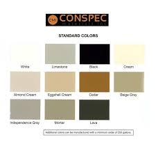 Quad Sealant Color Chart 15 Specific Dymonic Color Chart