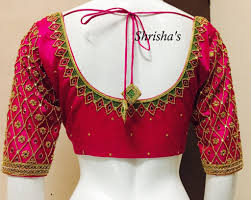 Full Embroidery Blouse Designs Embroidery Blouse Back Design From Shrishas 26 February