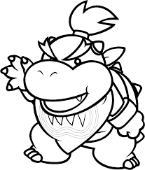 Bowser Jr Colouring Pages L L L L L