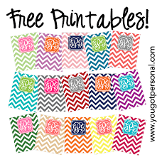 Printable Binder Inserts You Got Personal Free Printable Monogrammed Chevron Binder