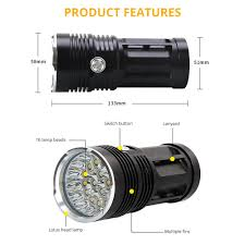 Most Powerful Led Torch Light Us 16 68 45 Off Most Powerful Led Flashlight 3to18 T6 Led Torch Light Tactical Flashlight 3modes Linterna Portable Lamp Light By 4 18650 In Led