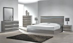 Lacquered Bedroom Furniture Grey Lacquer Bed With Led Lights White ...