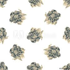 Seamless Pattern With Beautiful Roses Drawn By Hand With Colored