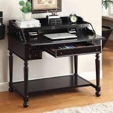 black writing desk with drawers secretary