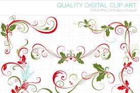 Christmas Swirls Free Christmas Decorative Flourish Swirls By Thehungryjpeg