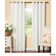 block out unwanted noise and light with these shiny faux dupoini silk curtains available