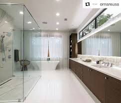 Spacious Contemporary Bathroom Design With Big Mirror Wooden Fascinating Big Bathroom Designs